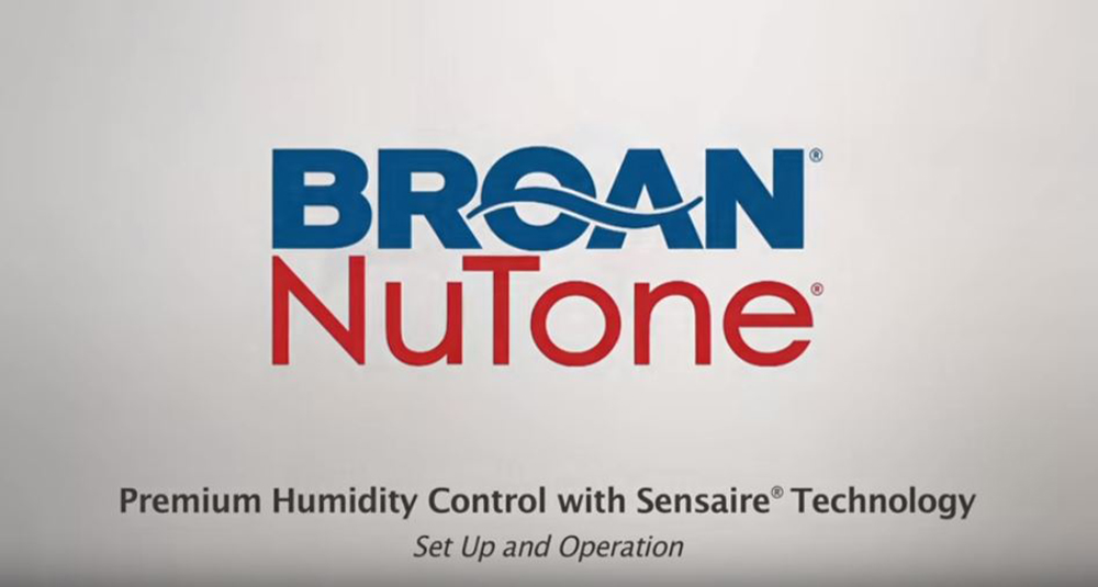Humidity Sensing Wall Control with Sensaire® Technology Set-Up and Operation
