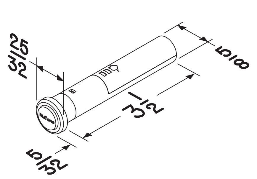 PB78LWHCL Wireless Pushbutton Dimensions