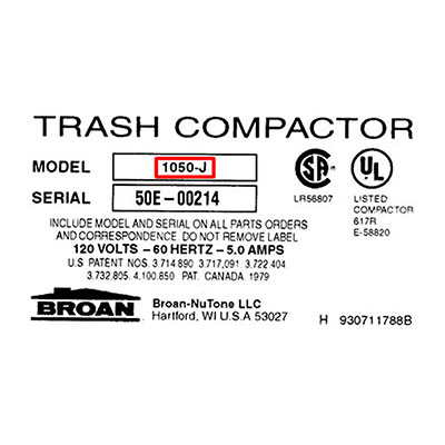 Broan Trash Compactors