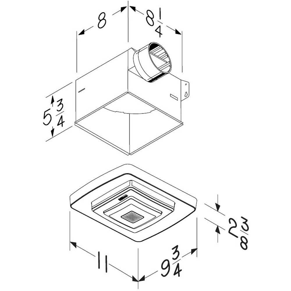 NuTone Bluetooth Speaker Fan Light