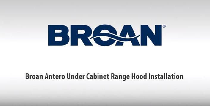 Broan Twin Blower Under Cabinet Range Hood Installation