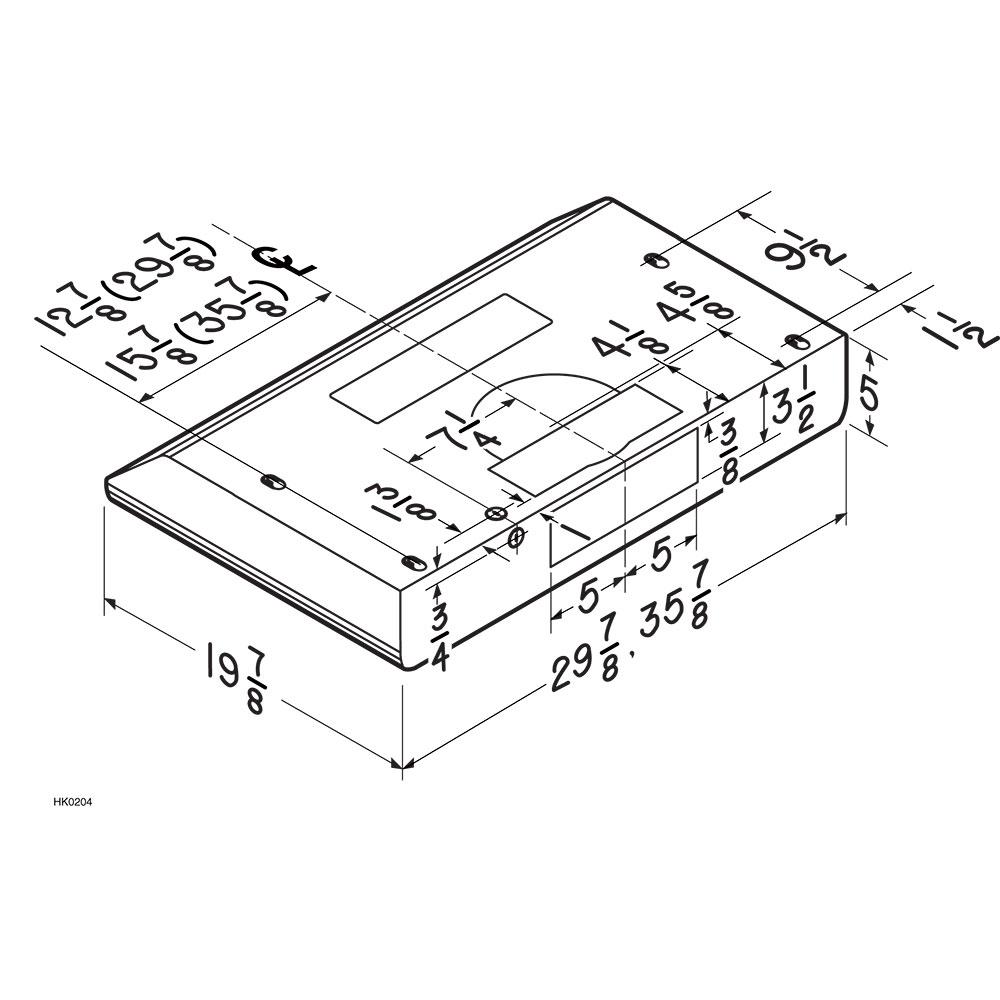 BKDB1 Dimensional Drawing